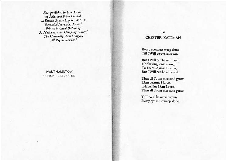 W H Auden wedding poem